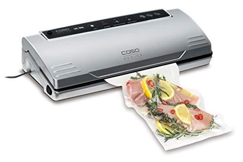 CASO VC100 Vakuumierer - Vakuumiergerät, Lebensmittel bleiben bis zu 8x länger frisch - natürliche Aufbewahrung ohne Konservierungsstoffe, doppelte 30cm lange & Profi- Folienrollen 28x600 cm
