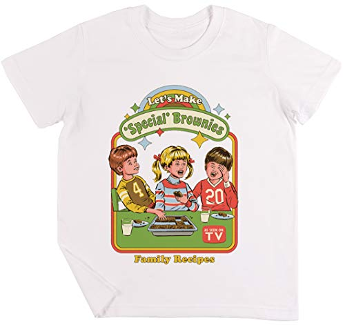 Let's Make Brownies - Funny Niños Chicos Chicas Unisexo Camiseta Blanco