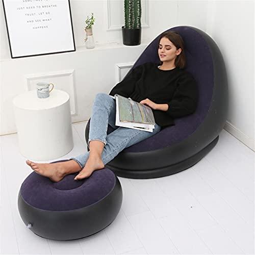 BSJLY Sofá Perezoso sofá reclinable Plegable Inflable al Aire Libre Cama con...