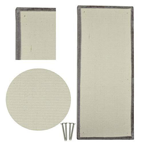 nanook Kratzbrett Sisal Kratzmatte mit Plüsch - extragroße Kratzfläche 110 x 45 - Robustes Teppich Kratzgewebe - Kratzfest