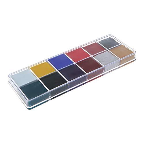 MB-LANHUA Professionnel Visage Corps 12 Couleurs Peinture À l'huile Peinture Pigment pour Kit de Beauté Maquillage Cosmétique Fournitures