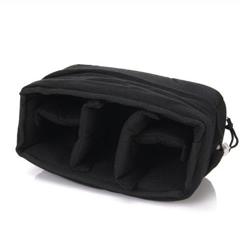 Yimidear stoßfest gepolsterte Faltbare Trennwand Kamera-Einsatzes Schutztasche für Sony Canon Nikon DSLR erschossen oder Flash Light (Black)