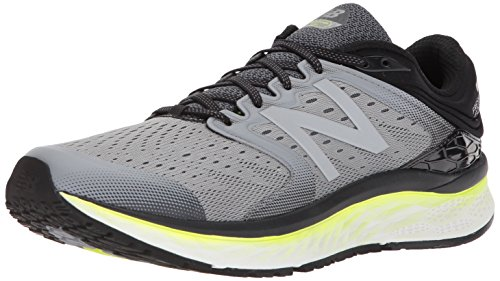 New Balance Men's Fresh Foam 1080 V8 Running Shoe, Grey/Yellow, 10 2E US