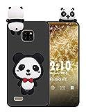 Sunrive Für Ulefone Note 7 (2019) Hülle Silikon, Handyhülle matt Schutzhülle Etui 3D Hülle Backcover für Ulefone Note 7 (2019)(W1 Panda 1) MEHRWEG+Gratis Universal Eingabestift