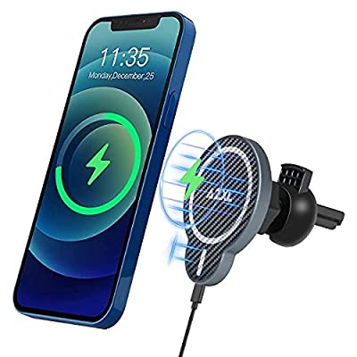 Amazon - 60% Off on QI Magnetic Wireless Car Charger Aluminum Alloy Shell 15W Fast Charg Car