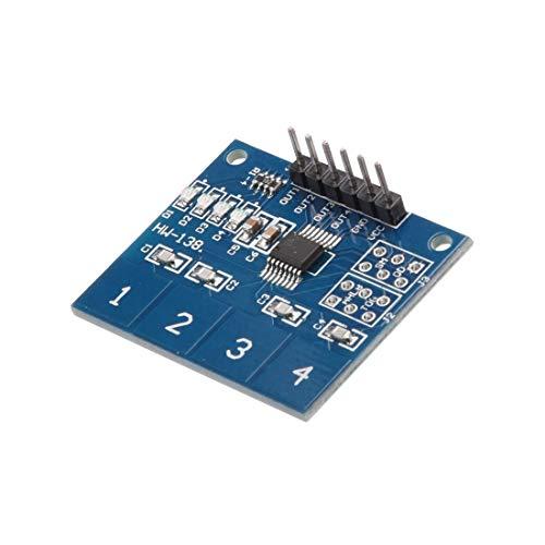 TTP224B Capacitive 4 Button Touch Sensor Pad Module for Arduino