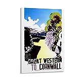 Cornwall Poster, dekoratives Gemälde, Leinwand, Wandkunst,