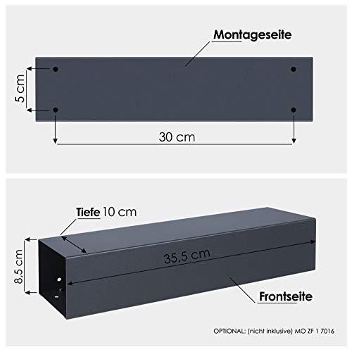 Briefkasten MOCAVI Box 101 anthrazitgrau (RAL 7016)/grau 12 Liter Wandbriefkasten - 9