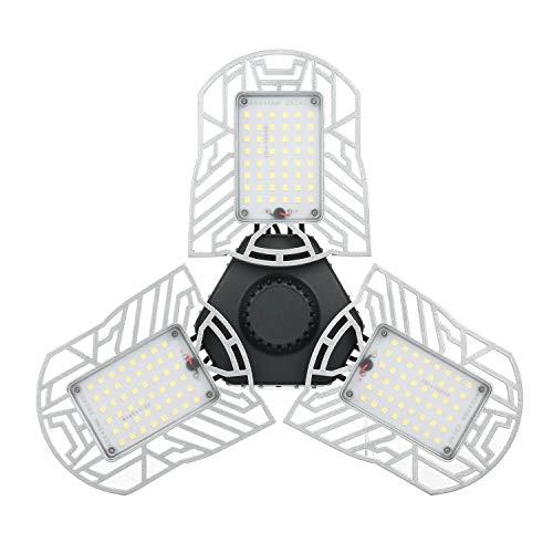 Fesjoy Luz de estacionamiento Luz de estacionamiento LED AC85-265V 6000lm Sensor de Movimiento Lámpara deformable de luz Plegable para Bombillas E26 / E27 para iluminación Interior