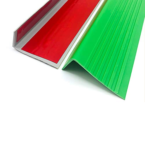 Cierre de Escaleras PVC 1M Longitud Autoadhesivo Stair Anti resbalón Rose 60x25mm ángulo Paso Edge para la protección de Las escaleras 10 unids Exterior e Interior
