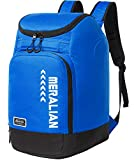 MERALIAN Ski Boot Bag - 50L Ski Boot Travel Backpack Waterproof Snowboard Boot Backpack for Travel Stores Gear Including Helmet, Goggles and Outerwear.(Blue-02)