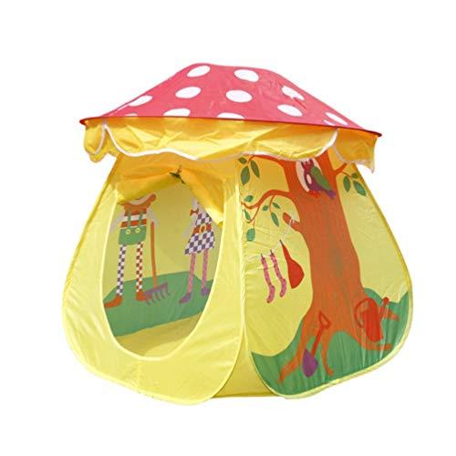 Garneck Kinder Spielen Zelt Pilzhaus Indoor Kinder Pop-Up Zelt Jungen Mädchen Spielzeug Outdoor Spielhäuser mit Tragetasche Fördert Kreativität Fantasie Frühes Lernen (Blau)
