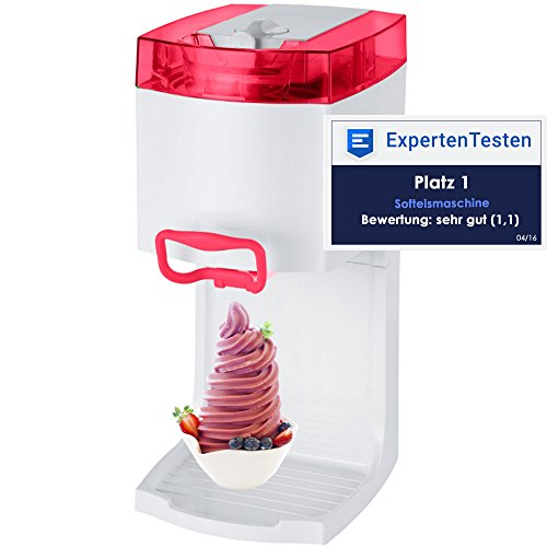 4in1 Gino Gelati GG-50W-A Red Softeismaschine Eismaschine Frozen Yogurt-Milchshake Maschine Flaschenkühler