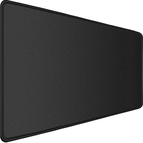 Gaming Mouse Pad,Upgraded Ergonomic Larger Extended Gaming Mouse Pad with Durable Stitched Edge,Waterproof Non-Slip Base,Best Gaming Mouse Pad for Gamer, Computer,Laptop, 31.5'x15.7'x0.12', Black