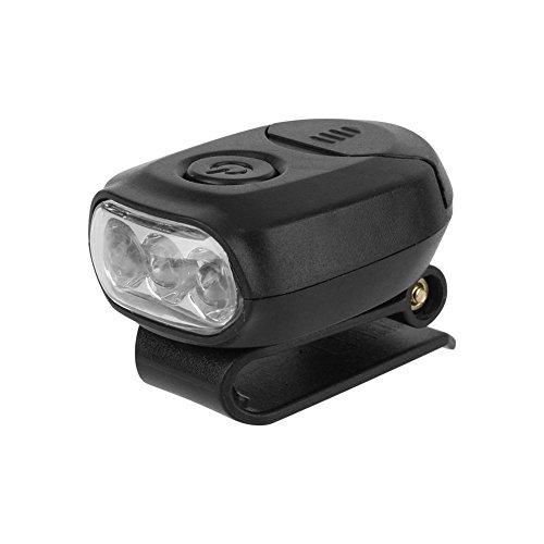 Dilwe Linterna Clip en el Sombrero Mini LED Linterna Frontal para Gorras Aire Libre Pescar Cámping