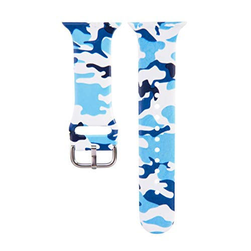 Correa de reloj de silicona deportiva para Apple Watch 40 mm 44 mm 42 mm 38 mm Pulsera de correa de banda de pintura colorida para iwatch Series 5 4 3 2 1