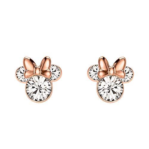 Minnie Mouse Conjunto de Piedra Pendientes Plata y Oro Rosa EF00469PAPRL.PH, talla única