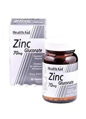 Gluconato de Zinc 90 comprimidos de 70 mg de Health Aid