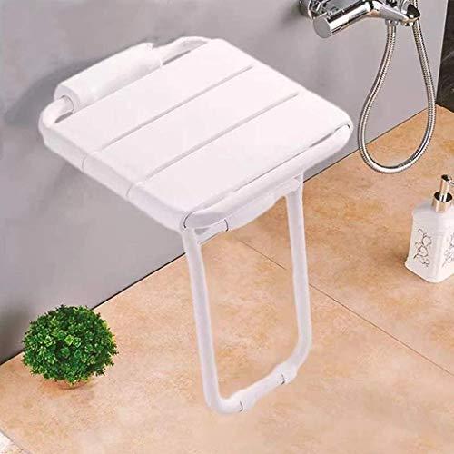 Silla de ducha Asiento plegable de la ducha, asiento de ducha plegable de pared, asiento antideslizante, taburete de baño de seguridad para mujeres mayores, embarazadas, discapacitados, salva espacio