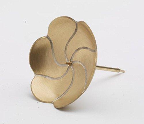 Kranzteller 4, Kerzenstecker Lotos in matt Gold, Durchmesser 10 cm mit abschraubaren Dorn für Gestecke, Adventskranz, Adventskranzkerzen