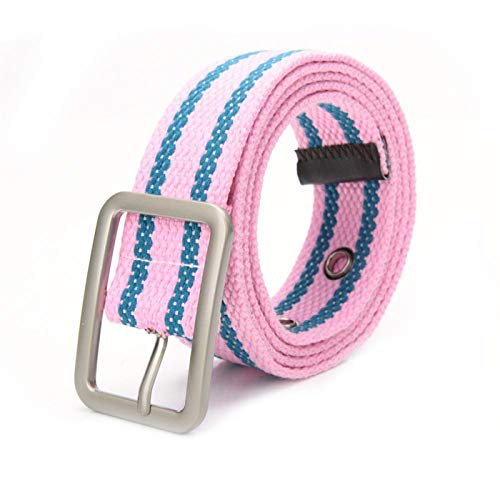 PmseK Cinturones Mujer, Unisex Fashion Concise Waist Belt Lightweight Canvas Pin Buckle Belt All Matching Wear Accessory San0 K