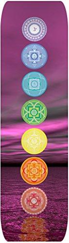 PAPILLON–Impreso Yoga de Alta resolución Mat-Non Slip, Unisex, High-Res Printed, The Seven Chakras, L
