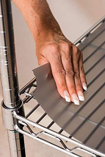 Kitchen Crew Wire Shelf Liners Kitchen Drawer Desks Flexible Plastic Wired Metal Rack Cabinets Shelves Tier Shelving Strong Grip Waterproof Heavy Duty Premium Quality - Pack of 4-36x16 Inches