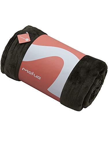 ナイスデイ mofua モフア 毛布 プレミアムマイクロファイバー Heatwarm発熱 +2℃ タイプ 1年間品質保証 キング モスグリーン 60100594