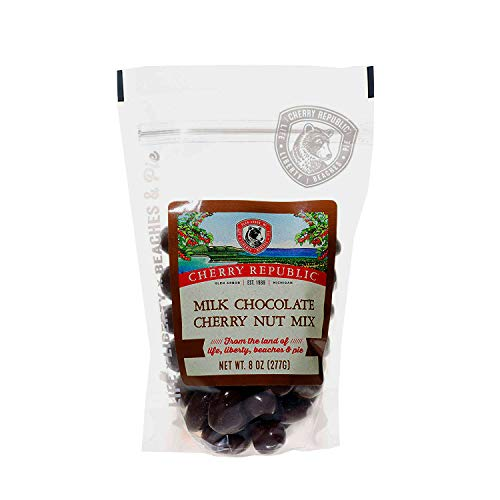 Cherry Republic Milk Chocolate Cherry Nut Mix  Nutritionrich Trail Mix Featuring Milk Chocolate Coated Tart Dried Cherries Roasted Pecans Cashews amp Almonds  Allpurpose Snack Mix  8 Ounces