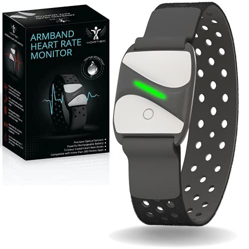 VorTec Bluetooth Pulsmesser Armband | ANT Herzfrequenzmesser | Monitor Armband Pulsmesser| Handgelenk-Herzfrequenzmesser Peloton kompatibel mit iFit Polar Strava Wahoo Garmin > 200 Apps…