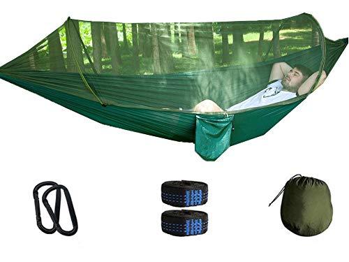 Hangmat Camping 2 personen 660LBS Met klamboe Opbergzak Boom tent Karabijnhaak Bandjes Draagbaar Parachute stoffen hangmat Duurzaam Ademend Wandelen strand
