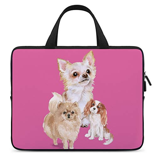 Universal Laptop Computer Tablet,Case,Cover for Apple/MacBook/HP/Acer/Asus/Dell/Lenovo/Samsung,Laptop Sleeve,Color for Mammal Vertebrate Dog Canidae Pink,10inch