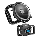 SHOOT Dome Port Lens for GoPro HERO8 Black - Dual Handle Stabilizer Floating Grip, Enlarge Trigger, Overall Waterproof Case - Easier to Hold and Shoot Over Underwater Photos/Videos