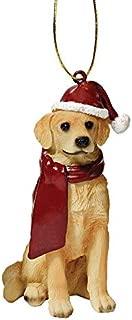 Design Toscano Christmas Ornaments - Xmas Golden Retriever Holiday Dog Ornaments