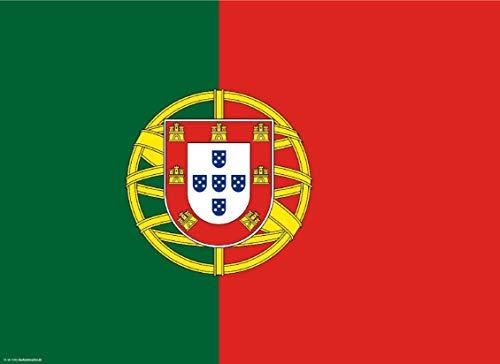 Tischsets | Platzsets - Portugal Flagge - 10 Stück - hochwertige Tischdekoration 44 x 32 cm für portugiesische Feierlichkeiten, Mottopartys & Fanabende