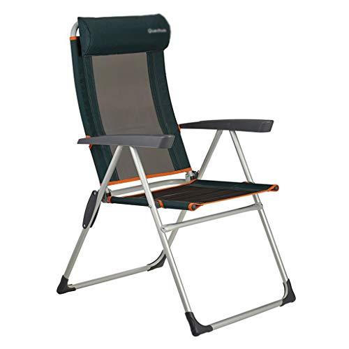 Klapstoel voor buiten, vrijetijds-campingstoel, tuinligstoel, visstoel, luxe ruststoel, comfortabele armleuning, draagbaar 110 kg