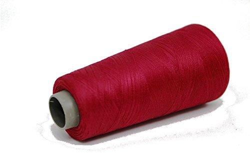 Knitsilk Silk Viscose Blend Yarn in Ruby Red (Maroon), (2 ply, 50 GMS) Great for Embroidery, Needle Felting, Knitting, Crochet, Weaving, jewelery, Crafts, Tassel Making