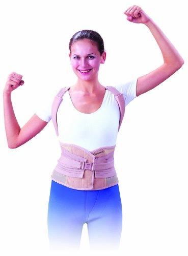 Dynamix Ortho - Soporte para mantener la espalda recta y reducir el dolor lumbar, talla XL (97-122 cm)
