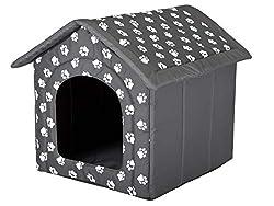 Hundehöhle XL mit Pfotenmuster