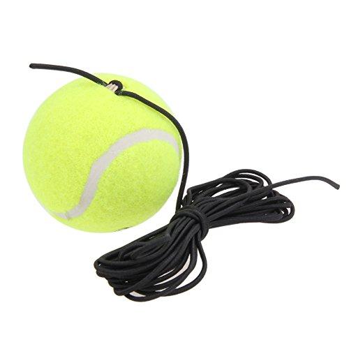 Domybest Tennisball mit elastischem Faden aus Gummi für Tennis, Training, Trainingsgerät für Tennis, selbstlernend