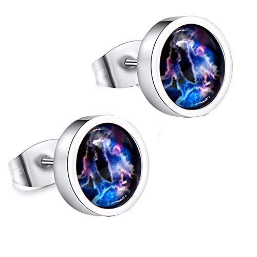 aimaoer Luminoso 12 Constelación Pendientes Hombres Y Mujeres De Moda De Acero Titanio Par De Pendientes Personalidad Marea Marea Accesorios De La Joyería Del Oído, Géminis