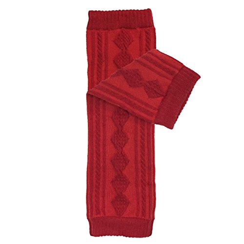 Wrapables Animals and Fun Colorful Baby Leg Warmers, argyle red, One Size