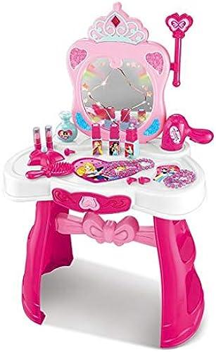 LLRDIAN Gesetztes Spielzeug des mädchenzauberspiegelmake-upschminktischschemel-Spielzeugs