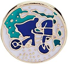 Cartoon Brooches trend New color rank Bicycle Girl Origami Wishing Bottle Enamel Pins