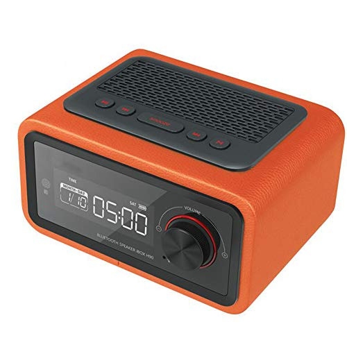AWJ Multifunktion Wecker LED-Anzeige Multimedia-Karte Smart Radio Mini Electronic Desktop Bluetooth Digital Radio,Hause,Orange