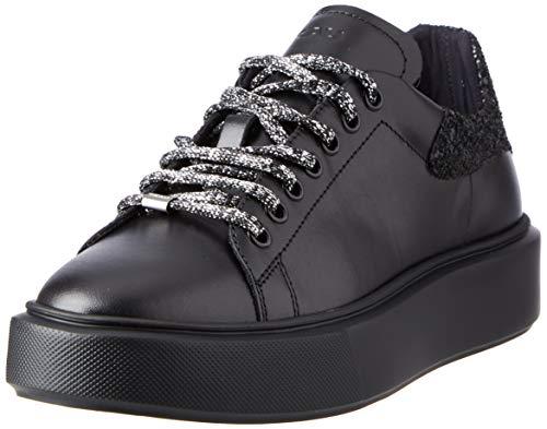 Frau Sneakers, Scarpe con Lacci Donna, Nero, 39 EU