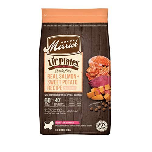 Merrick Lil' Plates Grain Free Small Breed Dry Dog Food Real Salmon + Sweet Potato Recipe - 20 lb. Bag