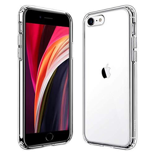 iPhone SE ケース[第2世代] iPhone7 ケース iPhone8 ケース 透明ケース 米軍MIL規格 耐衝撃 レンズ保護 衝撃吸収 全面 PC TPU 二層構造 滑り止め 軽い フィット感 黄変防止 ワイヤレス充電 4.7インチ 対応 クリア アイフォン7/8 カバー (クリア)