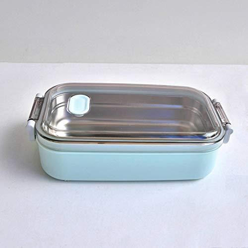 N-B Caja de almuerzo de acero inoxidable de 900 ml de capacidad portátil Dinne alimentos contenedores adultos señora niños