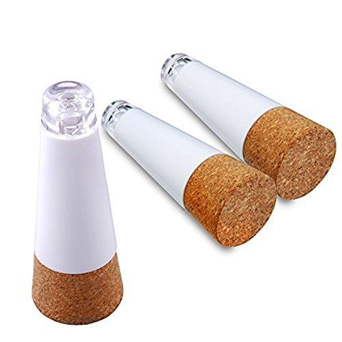 LOBKIN Weinflasche Lichter Cork geformte, Brightest Weinkorken USB-Licht auf dem Markt - 12 Lumen für Party Night Club Weihnachten Schlafzimmer Akku/Stromversorgung über USB (3pcs weiß)